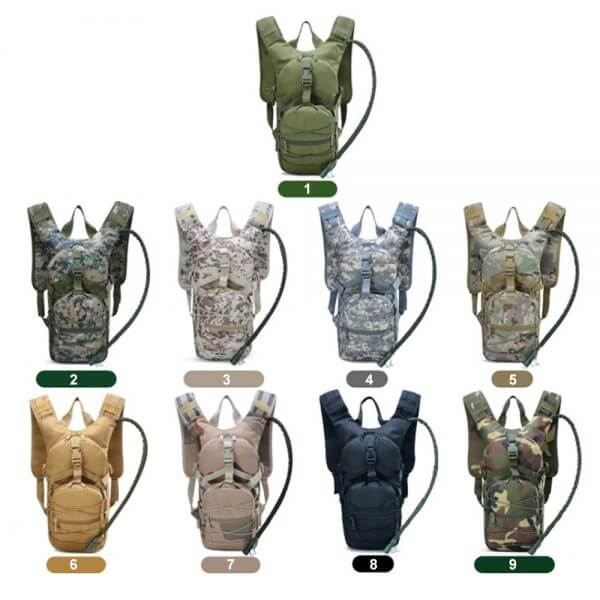Tactical Hydration Backpack with Water Bag (2)