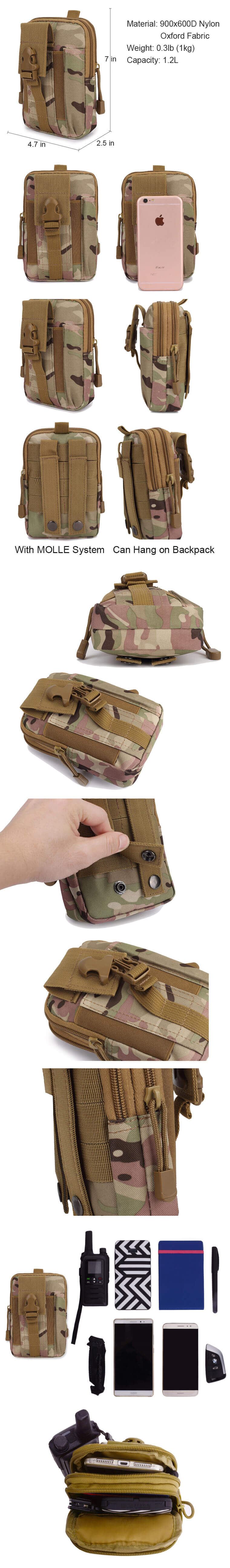 Tactical MOLLE Pouch Waist Bag Pack