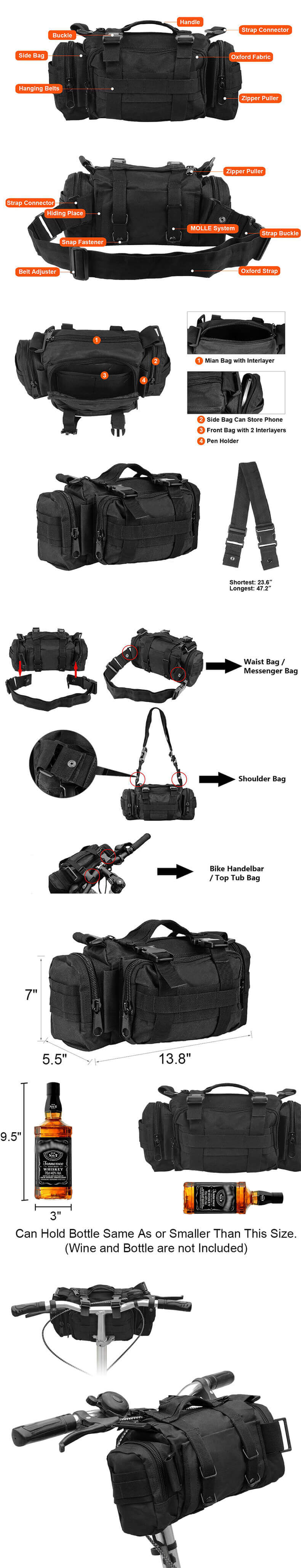 Outdoor Tactical Bicycle/Motorcycle Pack