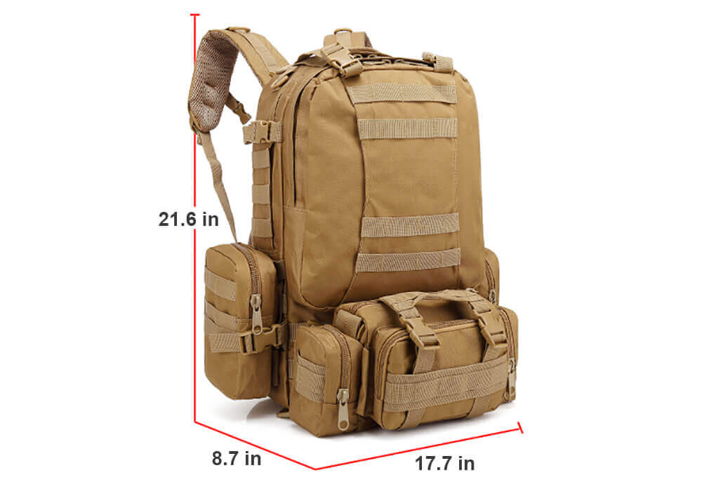 Outdoor Detachable 60L Tactical Backpack - 2