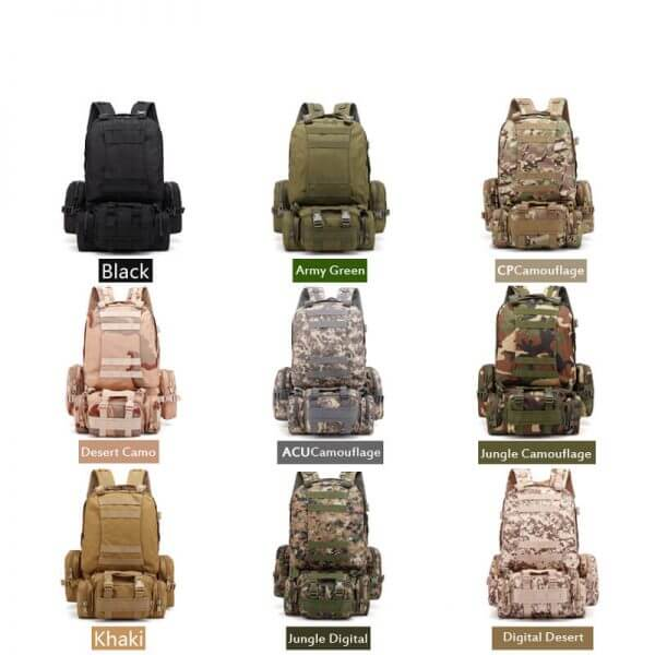 Outdoor Detachable 60L Tactical Backpack (7)