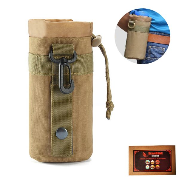 Nylon Tactical Molle Loop Lightweight Water Bottle Holder Carrier Pouch Holster